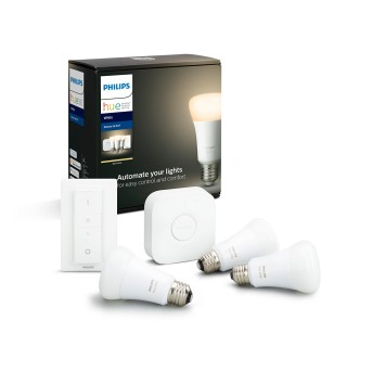 LED White E27 Starter-Set de 3, 2700 Kelvin Philips Hue