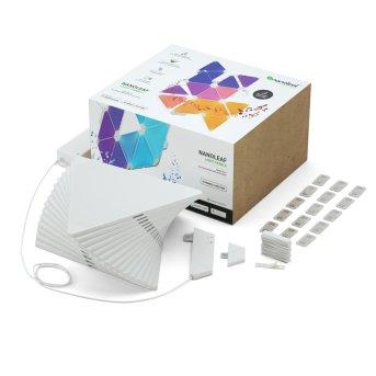 Applique murale nanoleaf Rhythm Starter Kit 15 Panneaux LED Blanc, 1 lumière, Télécommandes, Changeur de couleurs