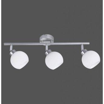 Plafonnier Leuchten-Direkt LOTTA Argenté, 3 lumières
