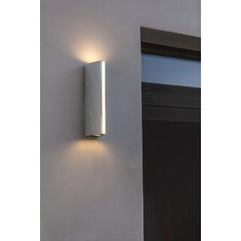 Applique murale d'extérieur Lutec Leo LED Chrome, 1 lumière