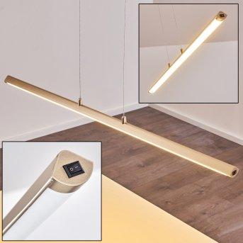 Suspension Wila LED Nickel mat, 1 lumière