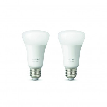 LED Set de 2 White E27 9,5 Watt 2700 Kelvin 806 Lumen Philips Hue