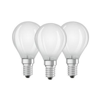Lot de 3 Osram LED E14 4,5 Watt 2700 Kelvin 470 Lumen