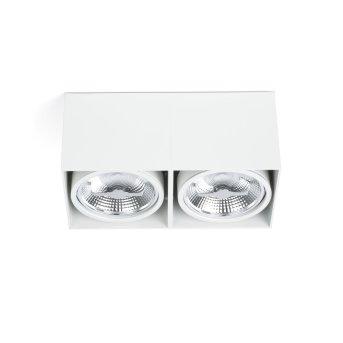 Plafonnier Faro Tecto Blanc, 2 lumières