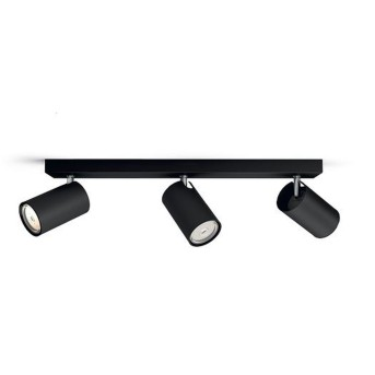 Plafonnier Philips Kosipo Noir, 3 lumières