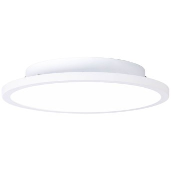 Plafonnier Brilliant Buffi LED Blanc, 1 lumière