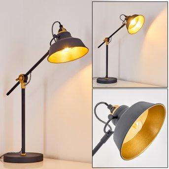 Lampe à poser Luven Noir, 1 lumière, Télécommandes