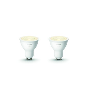Set de 2 White GU10 5,2 Watt 2700 Kelvin 400 Lumen Philips Hue