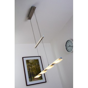 Suspension Wofi VERSO LED Nickel mat, 4 lumières