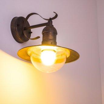Applique extérieure Broni Brun doré, 1 lumière