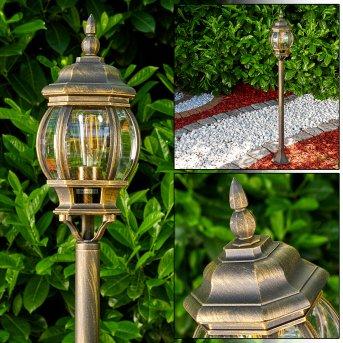 Lampadaire extérieur Lentua Brun doré, 1 lumière