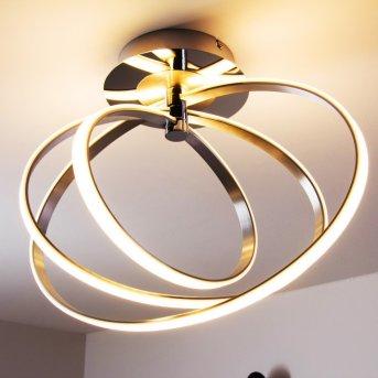 Plafonnier LED Trio Corland Chrome, 1 lumière