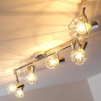 Spot de plafond Annai Chrome, 6 lumières
