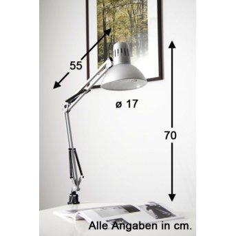 Lampe à pince Brilliant Hobby Acier inoxydable, Titane, 1 lumière