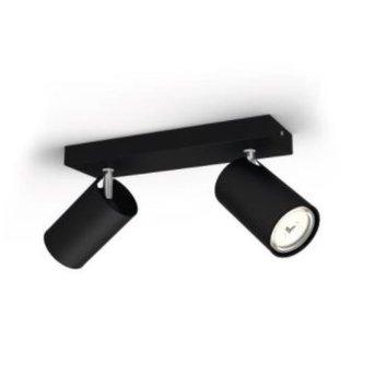 Plafonnier Philips Kosipo Noir, 2 lumières