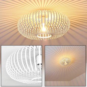 Plafonnier Ovari Blanc, 1 lumière