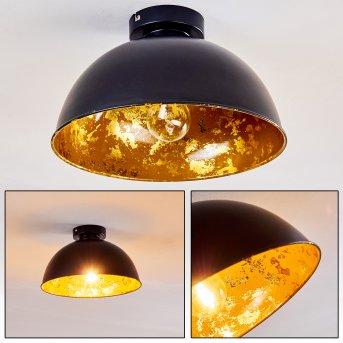 Plafonnier hofstein Nome Noir, 1 lumière