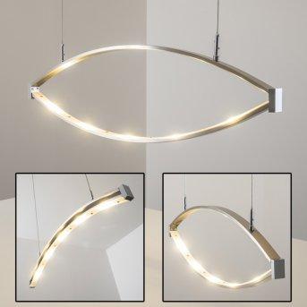 Suspension Honsel Lucy LED Chrome, Acier inoxydable, 5 lumières