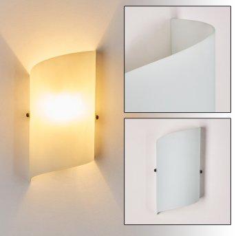 Applique murale Pordenone Blanc, 1 lumière