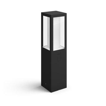 Borne lumineuse Philips Hue Ambiance White & Color Impress LED Noir, 1 lumière, Changeur de couleurs