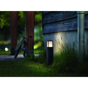 Borne lumineuse Philips Stock LED Anthracite, 1 lumière