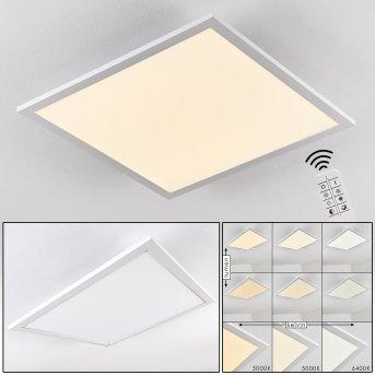 Plafonnier Salmi LED Aluminium, Blanc, 1 lumière, Télécommandes