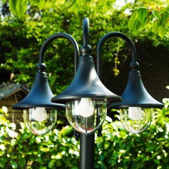 Réverbère Elgin Noir, 3 lumières