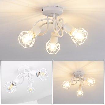 Plafonnier Baripada Blanc, 3 lumières