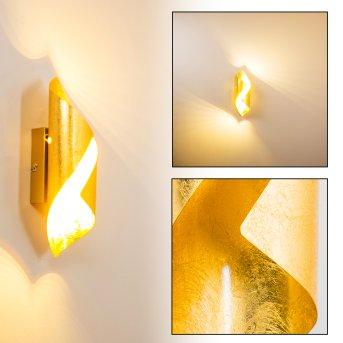 Applique murale Ogarrio LED Or, 2 lumières