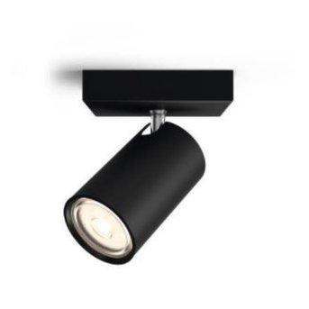 Plafonnier Philips Kosipo Noir, 1 lumière