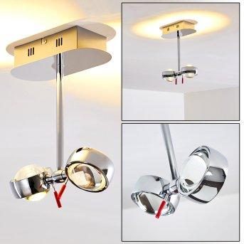 Plafonnier Florenz LED Chrome, 2 lumières