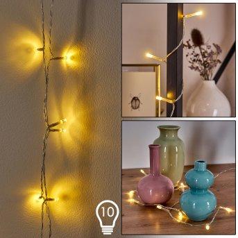 Guirlande Sondrio LED, 10 lumières