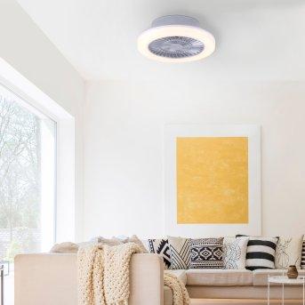 Plafonnier Leuchten-Direkt LEONARD LED Nickel mat, 1 lumière