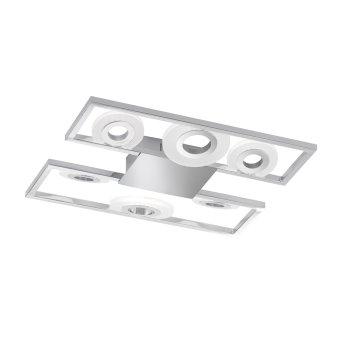 Plafonnier Honsel Spins LED Chrome, 1 lumière