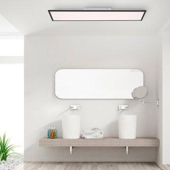 Plafonnier Leuchten-Direkt FLAT LED Noir, 1 lumière, Télécommandes