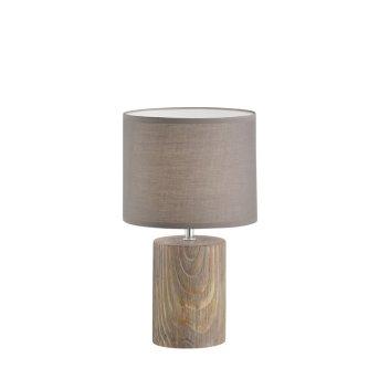 Lampe à poser Fischer & Honsel living Malik Bois foncé, 1 lumière