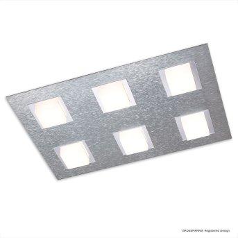 Plafonnier Grossmann BASIC LED Aluminium, 6 lumières