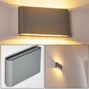 Applique murale d'extérieur Tinglev LED Gris, 2 lumières