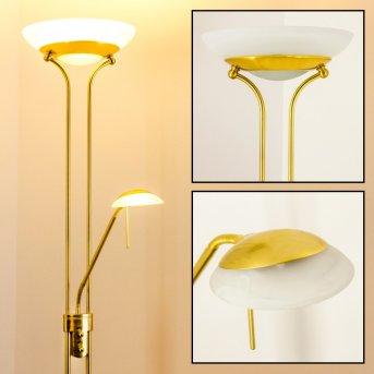 Lampadaire Biot LED Laiton, 2 lumières