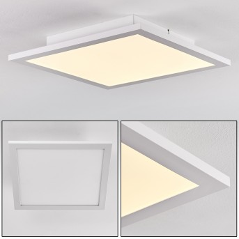Plafonnier Salmi LED Aluminium, Blanc, 1 lumière