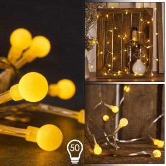 Guirlande Sondrio LED, 50 lumières