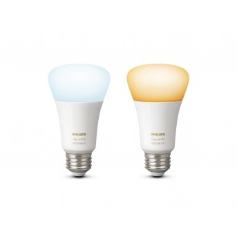 LED Set de 2 Ambiance White E27 9,5 Watt 6500 Kelvin 806 Lumen Philips Hue