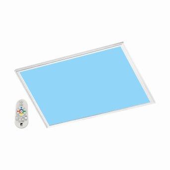 Panneau Eglo SALOBRENA-C LED Blanc, 1 lumière, Télécommandes, Changeur de couleurs