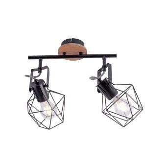 Plafonnier Leuchten-Direkt JARO Bois clair, 2 lumières