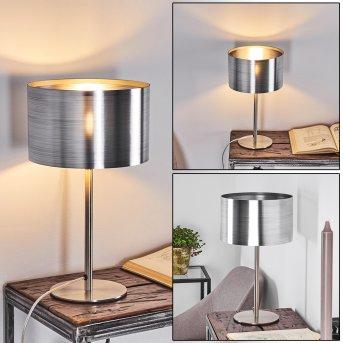 Lampe de table Volos Nickel mat, 1 lumière