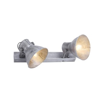 Plafonnier Leuchten-Direkt SAMIA Gris, 2 lumières