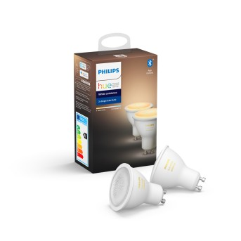 LED Set de 2 Ambiance White GU10 5,5 Watt 6500 Kelvin 350 Lumen Philips Hue