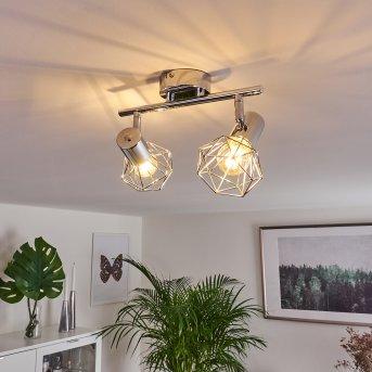 Spot de plafond Globo Xara Chrome, 2 lumières
