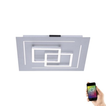 Plafonnier Paul Neuhaus Q-LINEA LED Aluminium, 1 lumière, Télécommandes, Changeur de couleurs