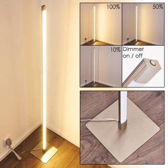 Lampadaire Playa LED Nickel mat, 1 lumière